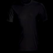 Áo cổ tròn màu đen ( thân trước)