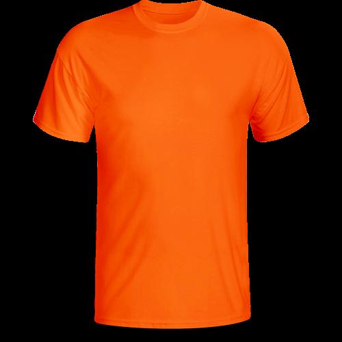 Áo cổ tròn màu cam ( thân trước)